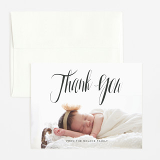In the Clouds Flat Birth Announcements Thank You Cards