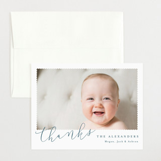 Minimal Modern Flat Birth Announcements Thank You Cards