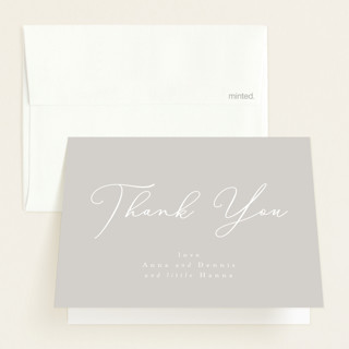 sweetness in script Flat Birth Announcements Thank You Cards