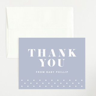Bold Capital Flat Birth Announcements Thank You Cards