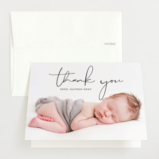 Modish Birth Announcements Thank You Cards