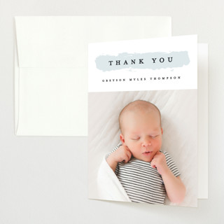 Highlighted Birth Announcements Thank You Cards