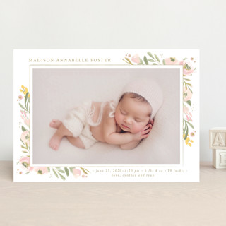 brush of florals Birth Announcements