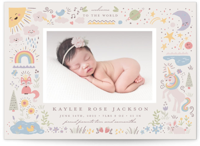 Cute World Birth Announcements