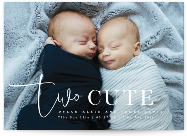 Two Cute Birth Announcements