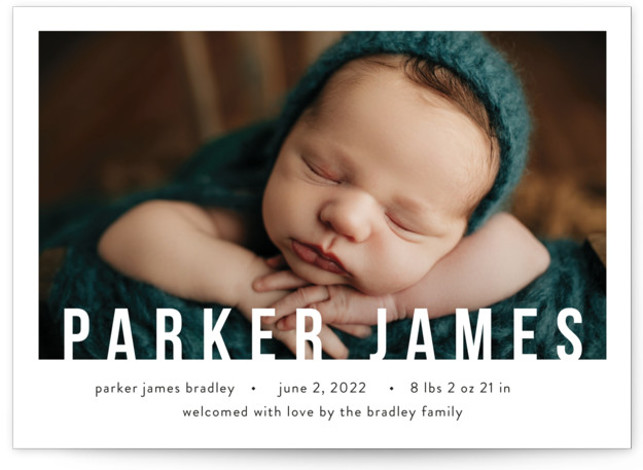 Bold Overlay Birth Announcements