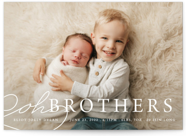 Oh Brother Birth Announcements