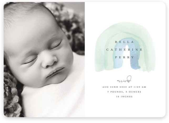 Watercolor miracle Birth Announcements