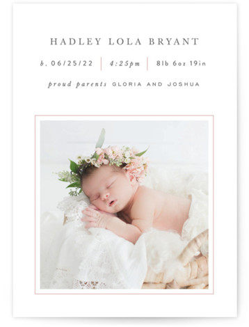 Lined Birth Announcements