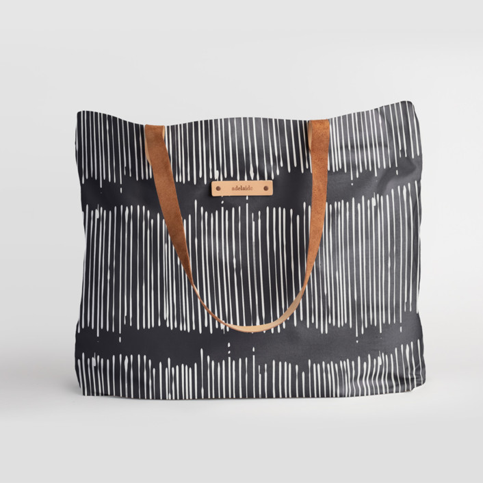 Matchstick Black Carry-All Slouch Tote, $78