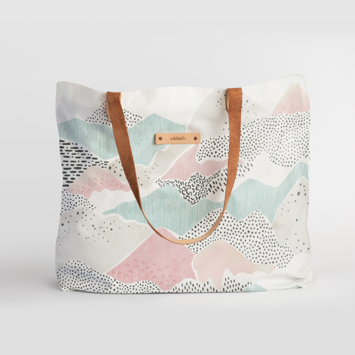 Abstract View Bis Carry-All Slouch Tote, $78