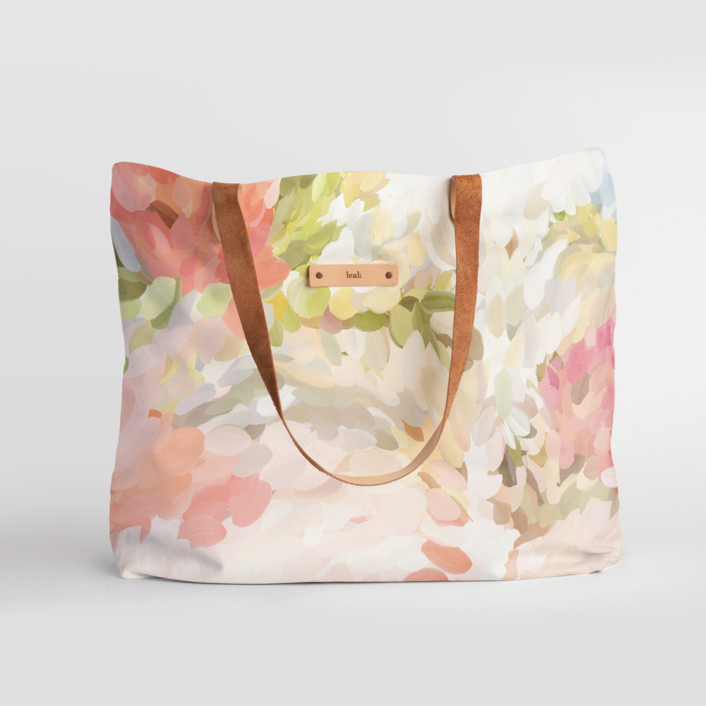Spring Bloom Carry-All Slouch Tote