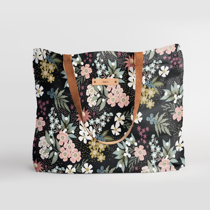 Wildflower Scatter Carry-All Slouch Tote