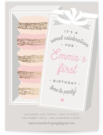 tea party birthday invitations decor
