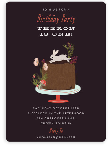 Autumn Celebration Children's Birthday Party Invitations