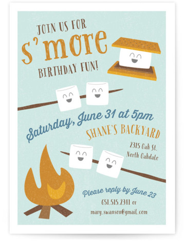 S'More Fun Children's Birthday Party Invitations