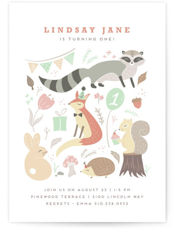 tartletta Children's Birthday Party Invitations