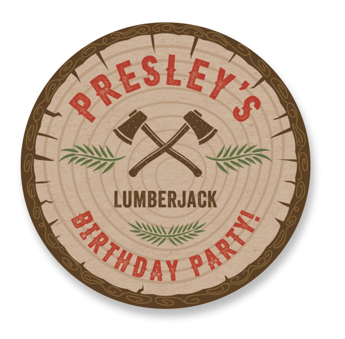 Timber! Children's Birthday Party Stickers