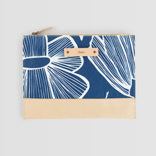 Lined Florals Casual Clutch