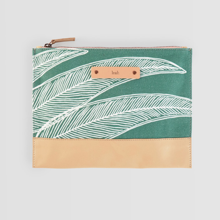 Sketched Willow Casual Clutch