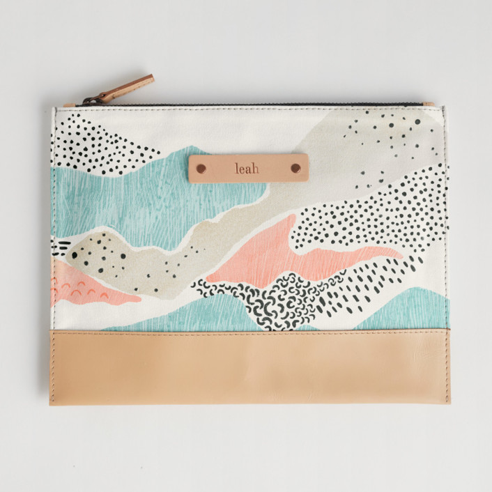 Abstract View Casual Clutch, $28