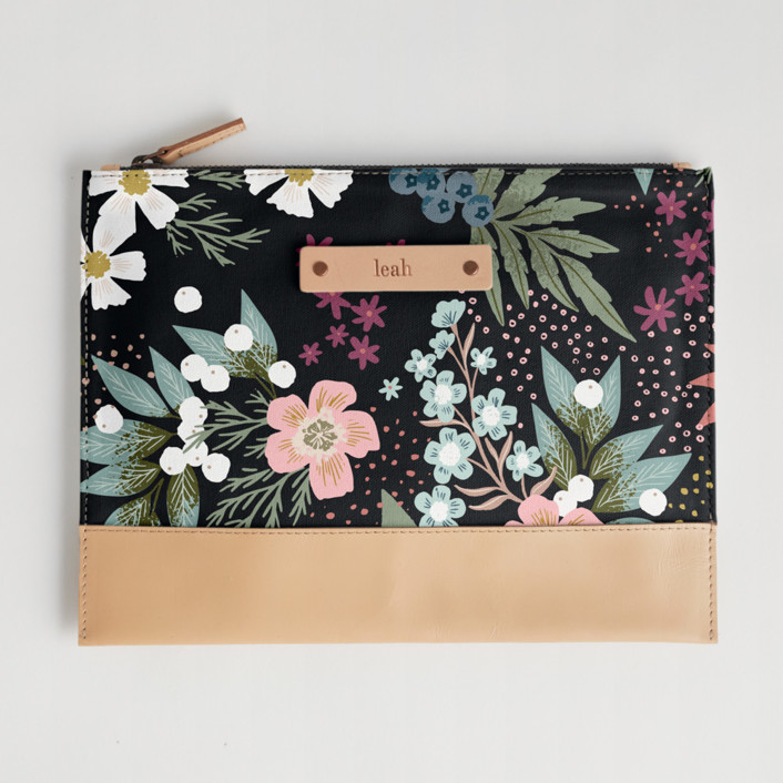 Wildflower Scatter Casual Clutch, $28