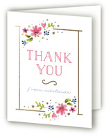 Simply Sweet One Foil-Pressed Children's Birthday Party Thank You Cards