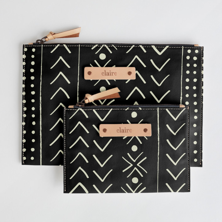mud cloth organic Catch-All Fabric Pouch Set, $38