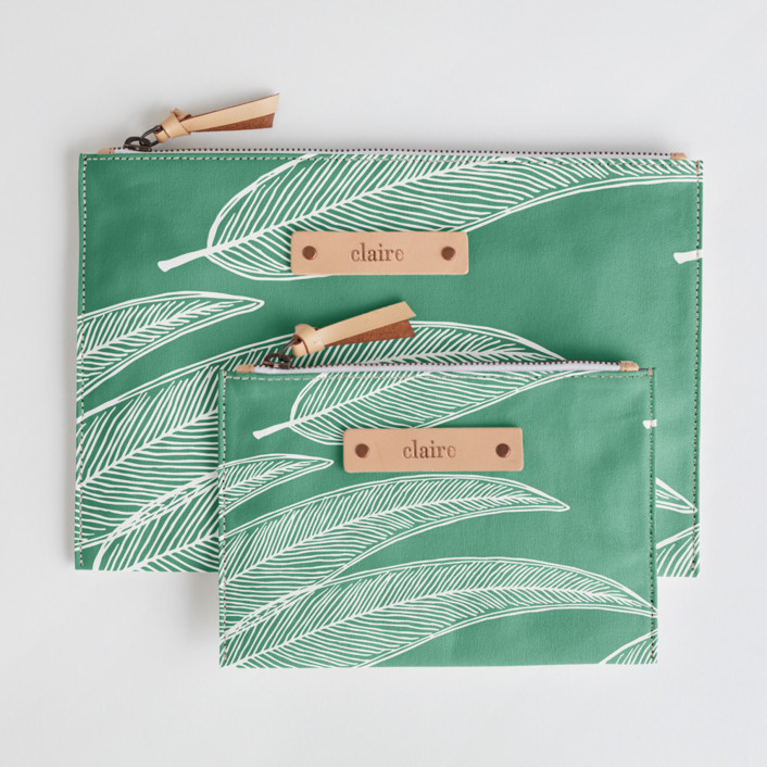 Sketched Willow Catch-All Fabric Pouch Set