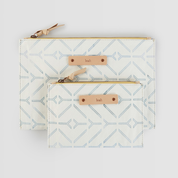Coastal Catch-All Fabric Pouch Set