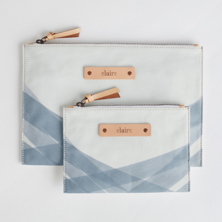 Crisscross Catch-All Fabric Pouch Set, $38