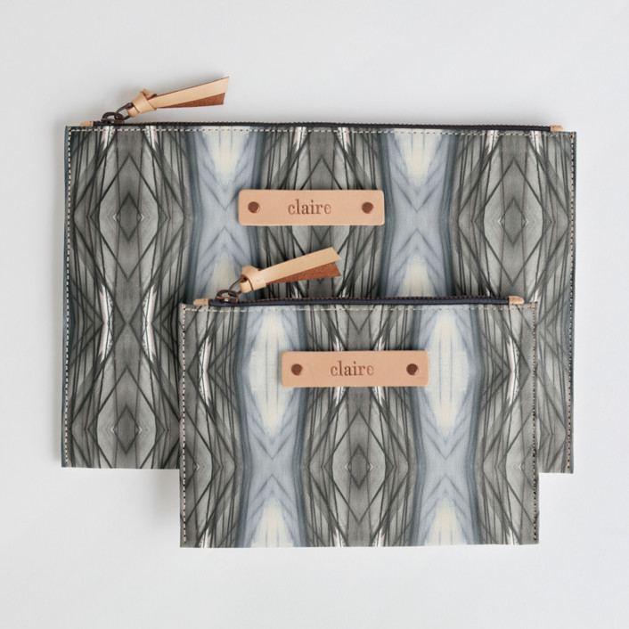 Ikat Strie Dopp Catch-All Fabric Pouch Set, $38