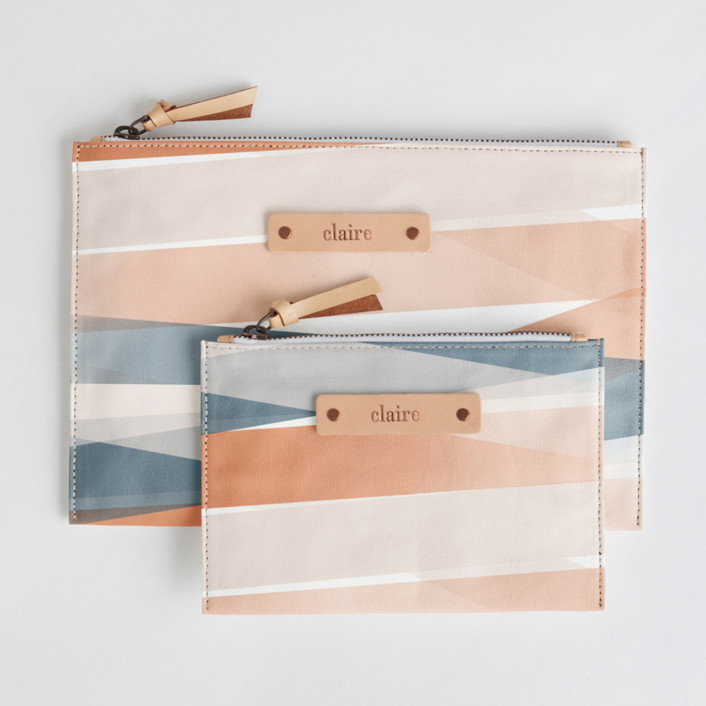Pastel Beach Catch-All Fabric Pouch Set, $38