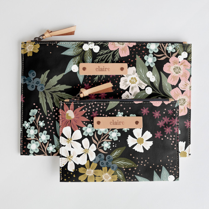Wildflower Scatter Catch-All Fabric Pouch Set, $38