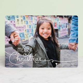 Handwritten Holidays Christmas Photo Cards