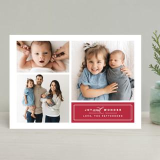 Classic Trio Christmas Photo Cards