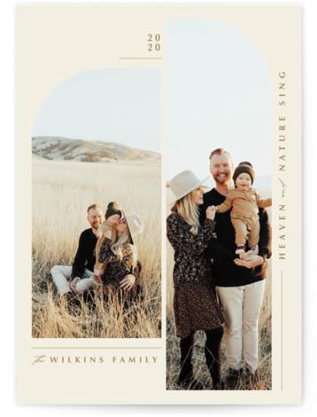 Split Arch Christmas Photo Cards