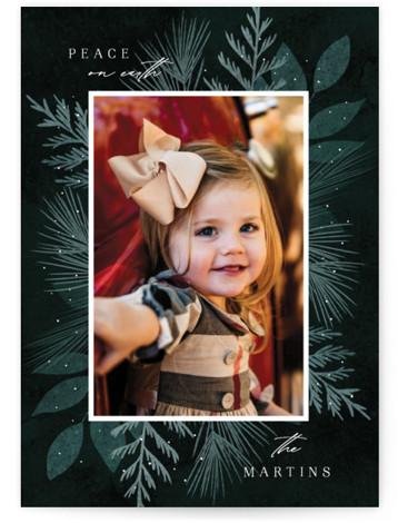 Botanical Frame 2 Christmas Photo Cards