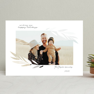 Blessed Leaves Christmas Photo Cards
