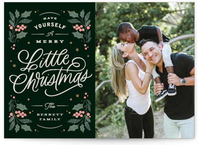 Holly & Berries Christmas Photo Cards