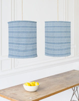 Contemporary Stripe Chandelier Lampshades