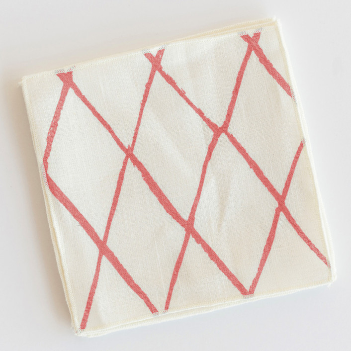 Criss-Crossed Cocktail Napkins