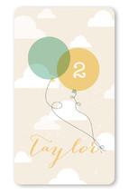 In The Sky Birthday Custom Stickers