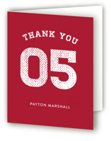Red Zone Childrens Birthday Party Thank You Cards
