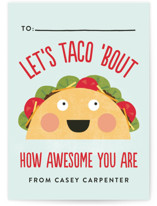 Taco 'Bout Awesome Classroom Valentine's Cards