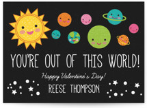 You're Out Of This World Classroom Valentine's Day Cards