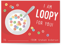 Loopy for You Classroom Valentine's Cards