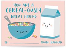Cereal & Milk Classroom Valentine's Cards