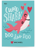Cupid Shark Classroom Valentine's Day Cards
