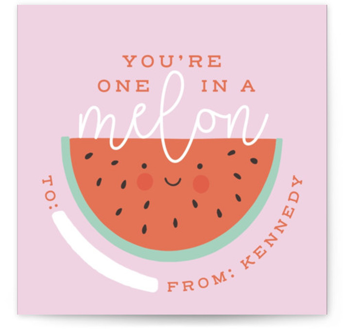 One In A Melon Classroom Valentine's Day Cards